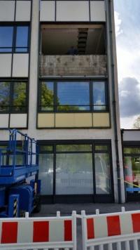 Oberföhringer Strasse - Fassadenrückbau - Einbringöffnung